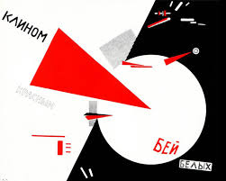 "El Lissitzky's ""Beat the Whites with the Red Wedge"" is as literal and symbolic as a propaganda gets."
